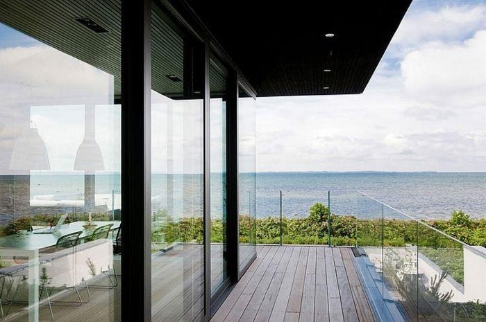 Wohnzimmer Balkon Villa Schweden Gelegen