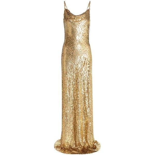 Michael Kors Collection Metallic Fil Coupé Dress ($3,605) ❤ liked ...