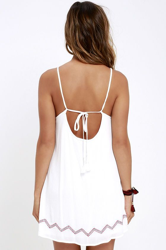 Living the Dream Ivory Embroidered Dress at Lulus.com!