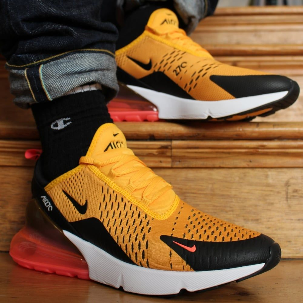 new concept 07edc 36df8 NIKE AIR MAX 270 TIGER BLACK YELLOW UNIVERSITY GOLD YELLOW ...