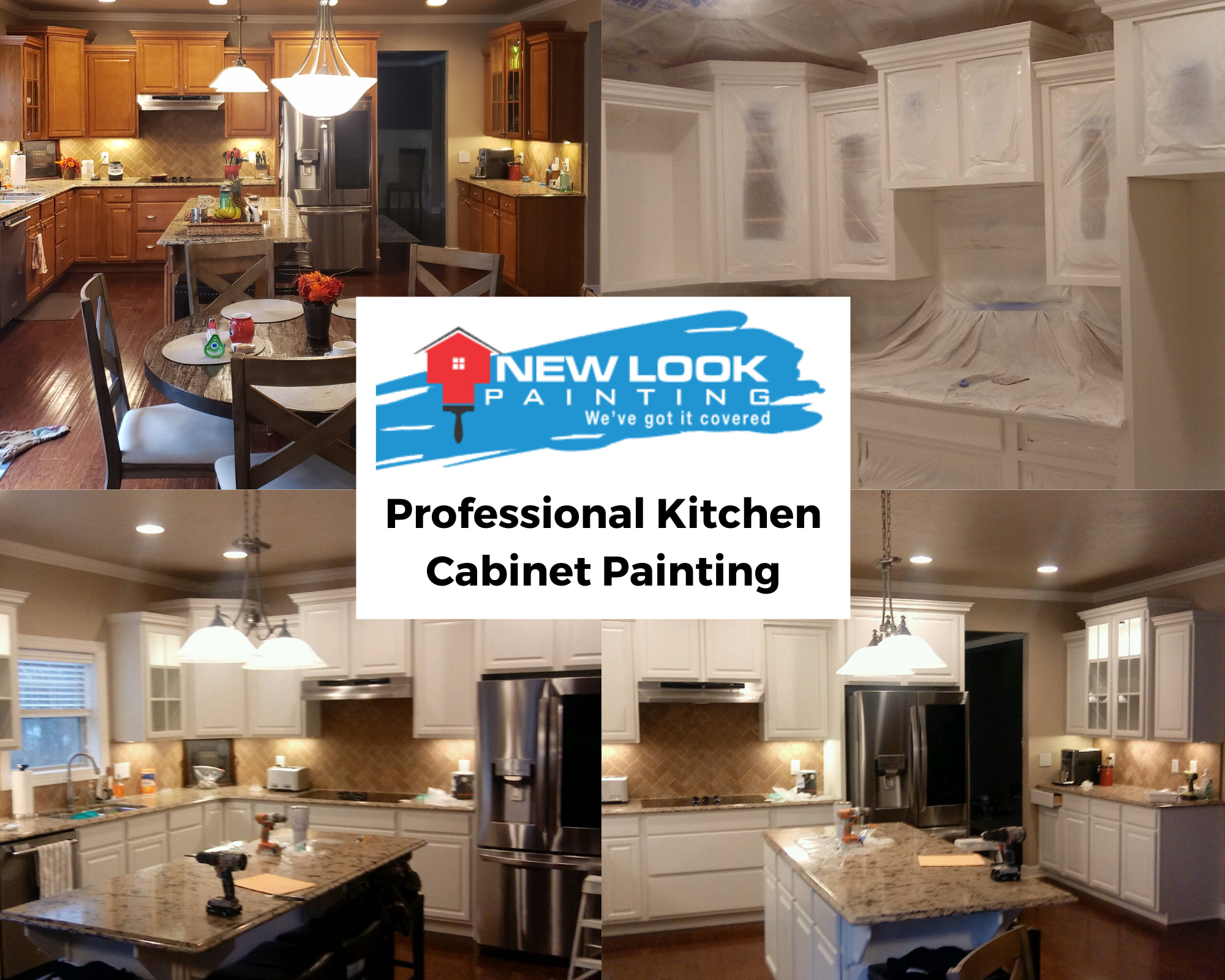 Check Out This Before And After Of A Recent Kitchen Cabinet Painting Project What A Difference Really In 2020 Ready Made Kitchen Cabinets Kitchen Cabinets Kitchen