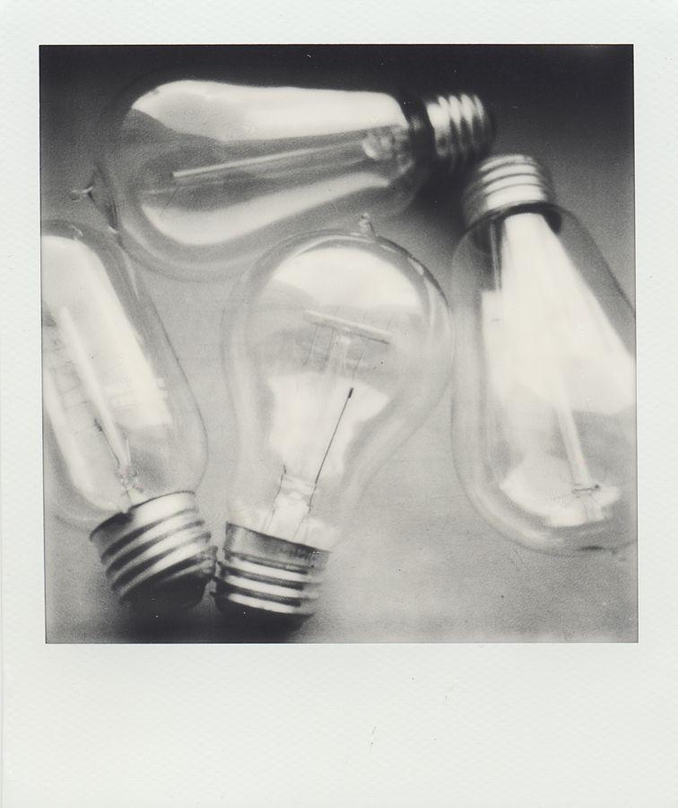 Edison Light Bulbs Polaroid Px 600 Cool By Timothy Logan Bulb Black White Polaroid