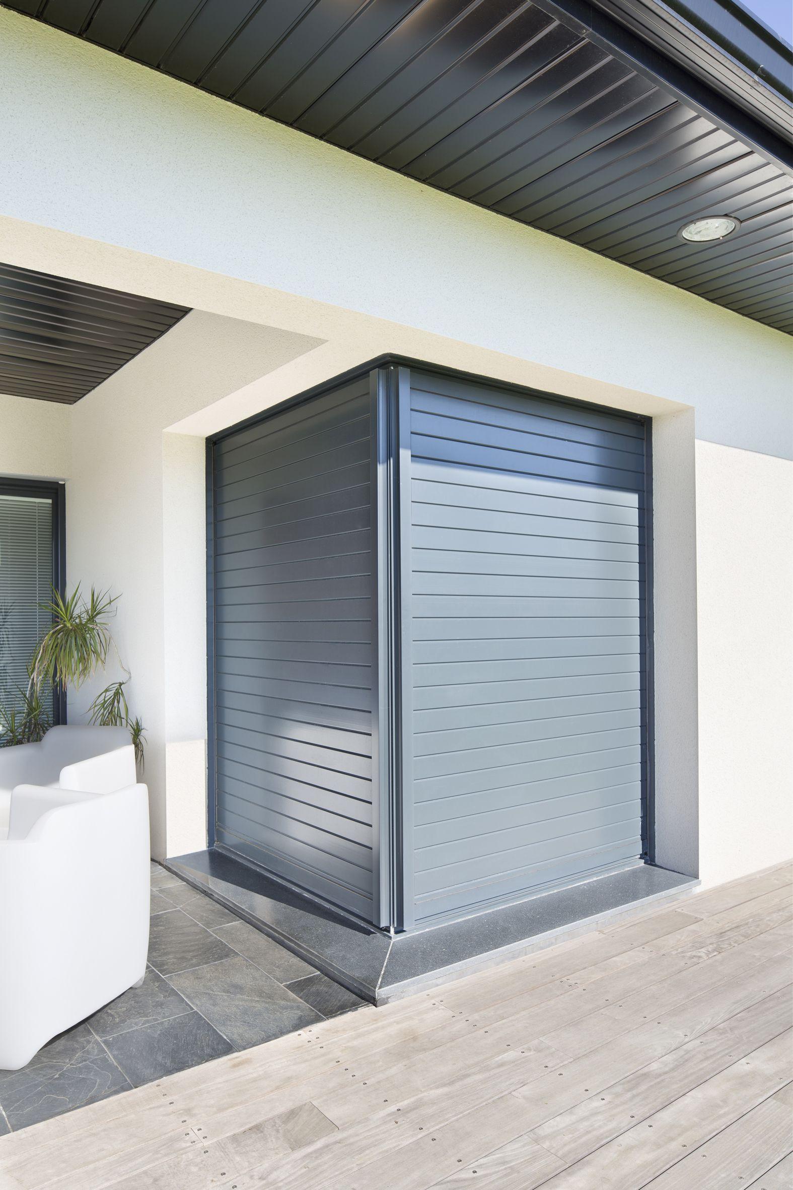 bloc coulissant galandage d 39 angle an aluminium d 39 initial. Black Bedroom Furniture Sets. Home Design Ideas