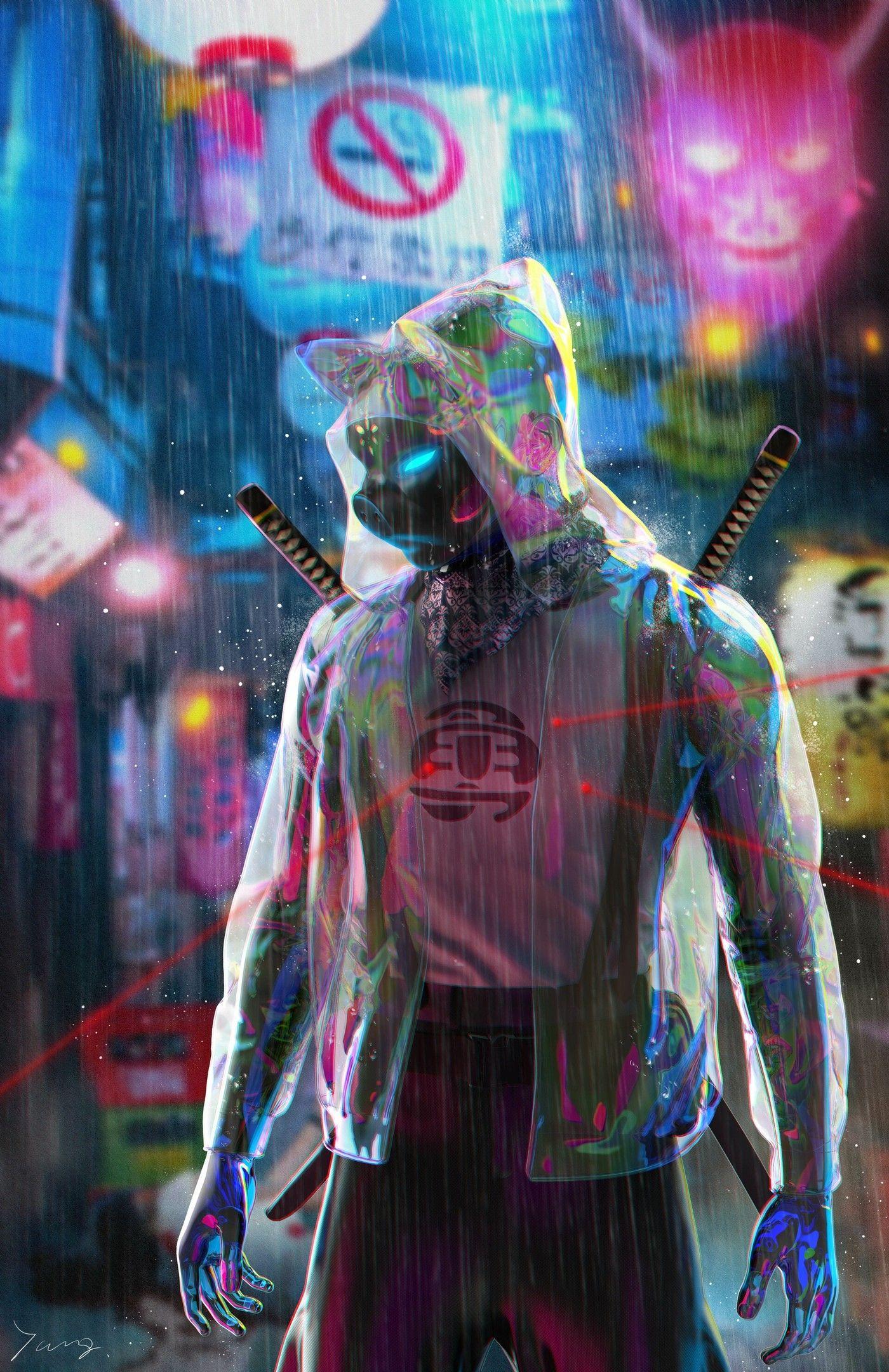 Pin Oleh Frank Ortega Di Cyberpunk Dengan Gambar Lukisan
