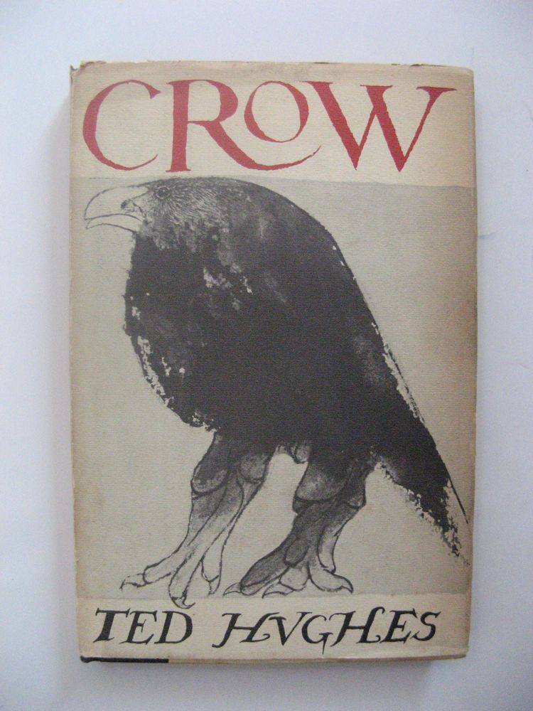 Ted Hughes 1st Ed. Crow Cover Art by Leonard Baskin Poems First US HCDJ