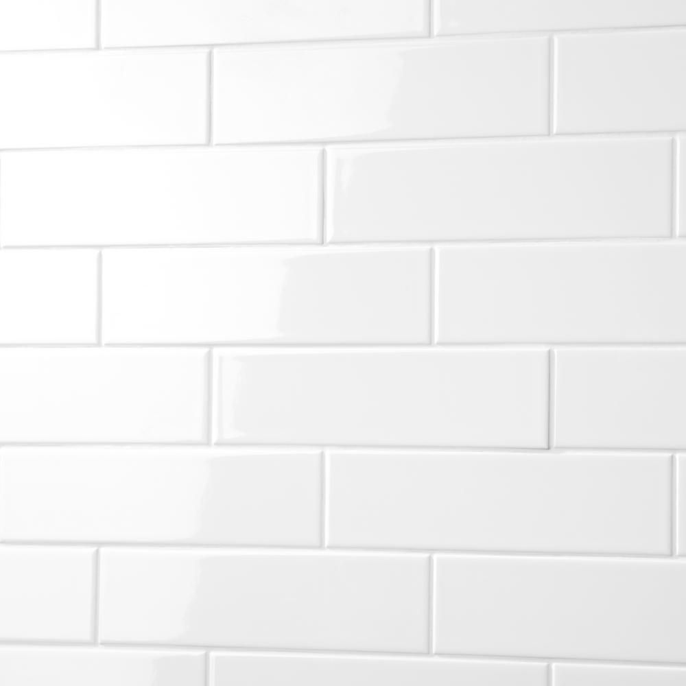 Daltile Finesse Bright White 3 in. x 12 in. Ceramic Wall Tile (14.40 ...