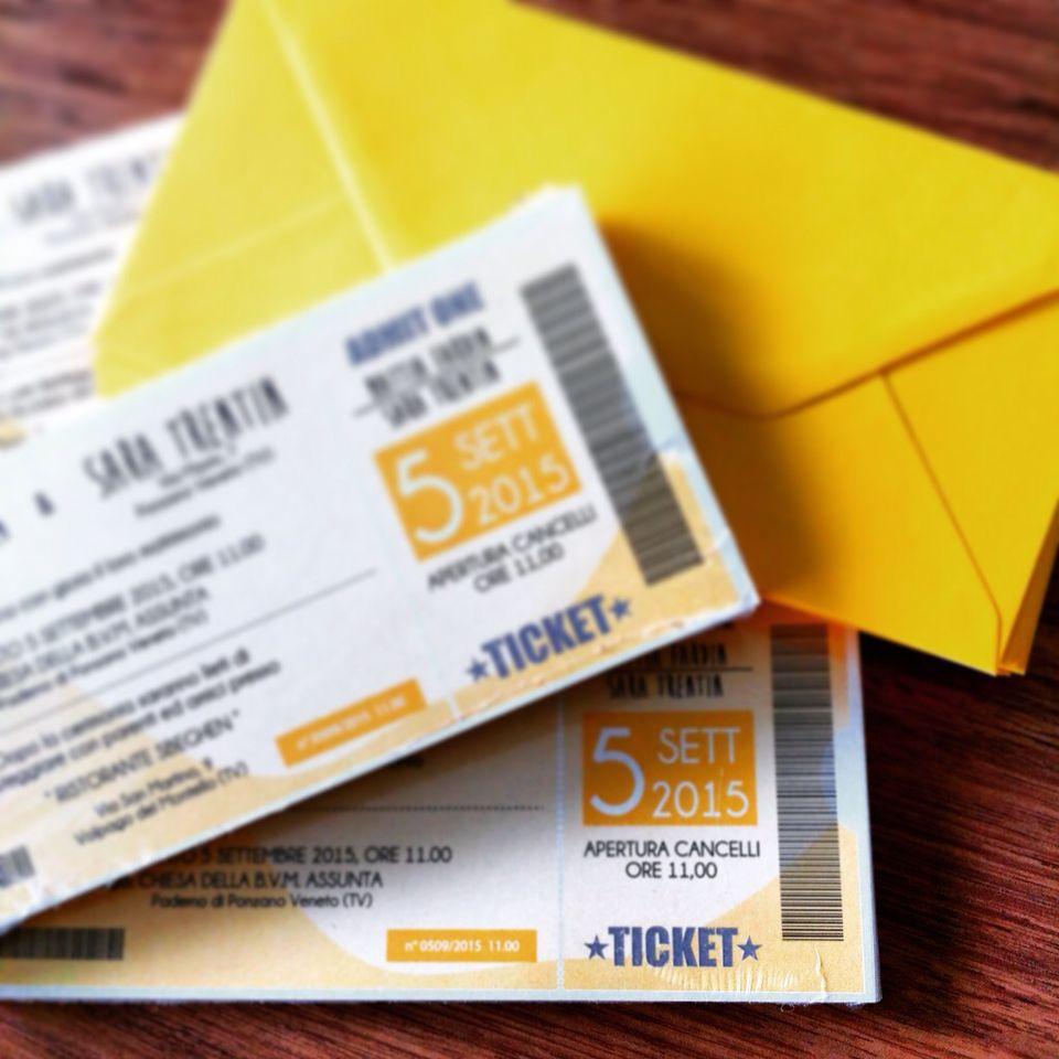 Super Partecipazioni di matrimonio a biglietto del concerto!colori e  ST56