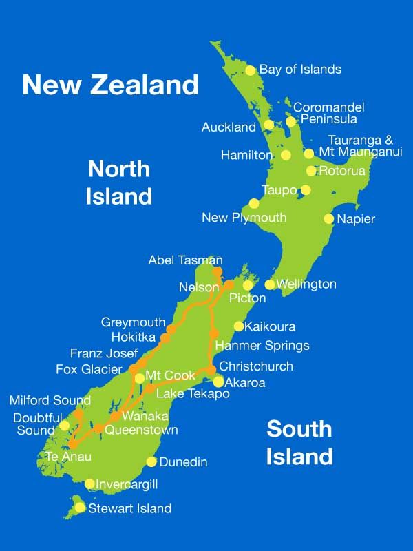 New Zealand Self Drive Holiday 10 Day South Island Tour