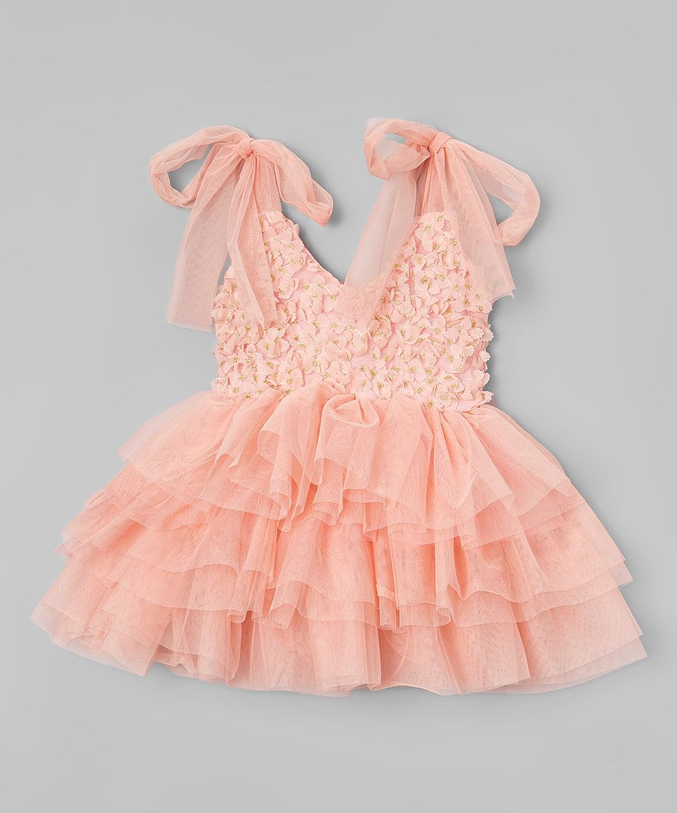 Pink and gold dress for kids  Just Couture Dusty Rose u Gold Rosette ALine Dress  Toddler