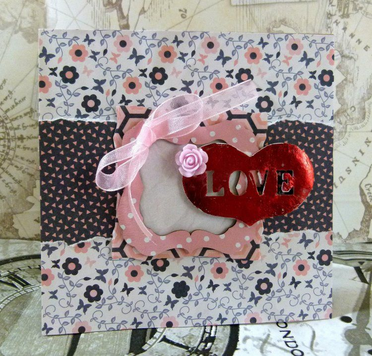 A sweet floral card using the So Chic papers by DT member Katie