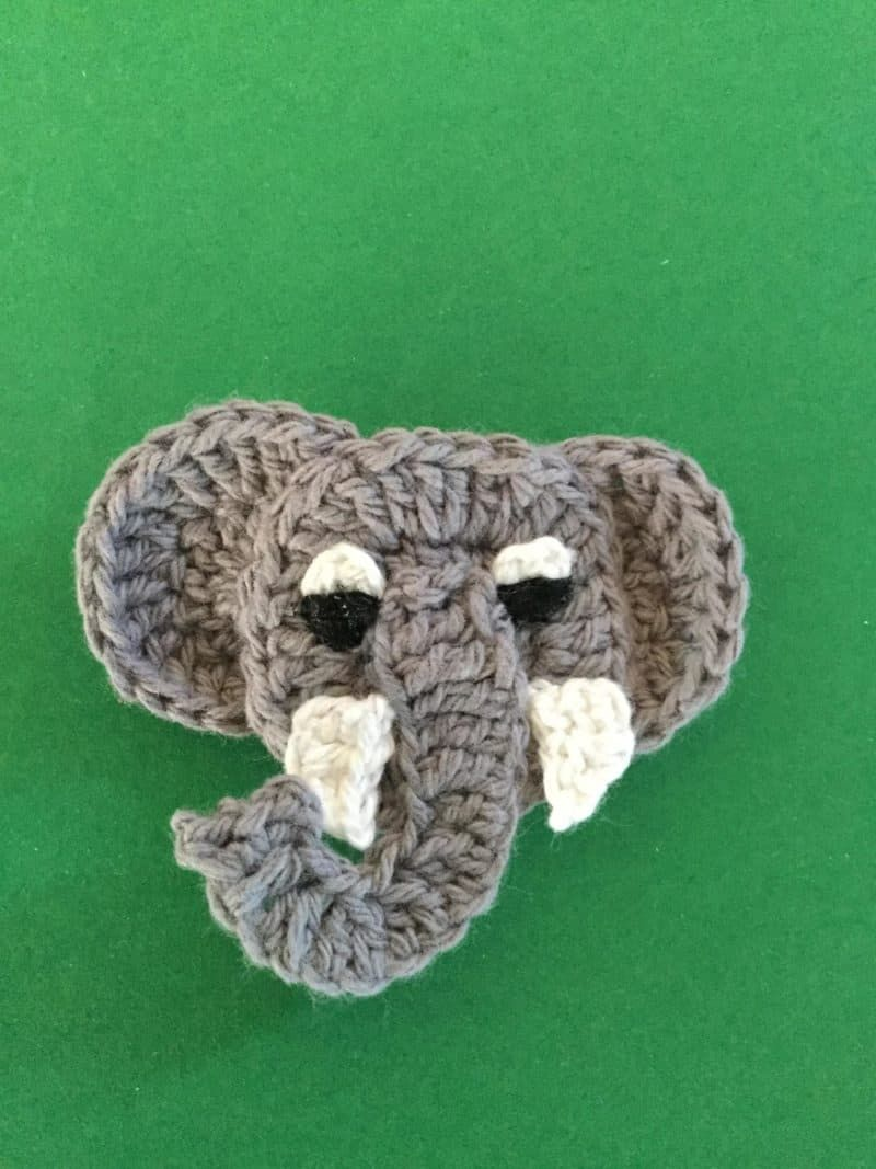 Crochet pattern for Elephant applique • Kerri's Crochet