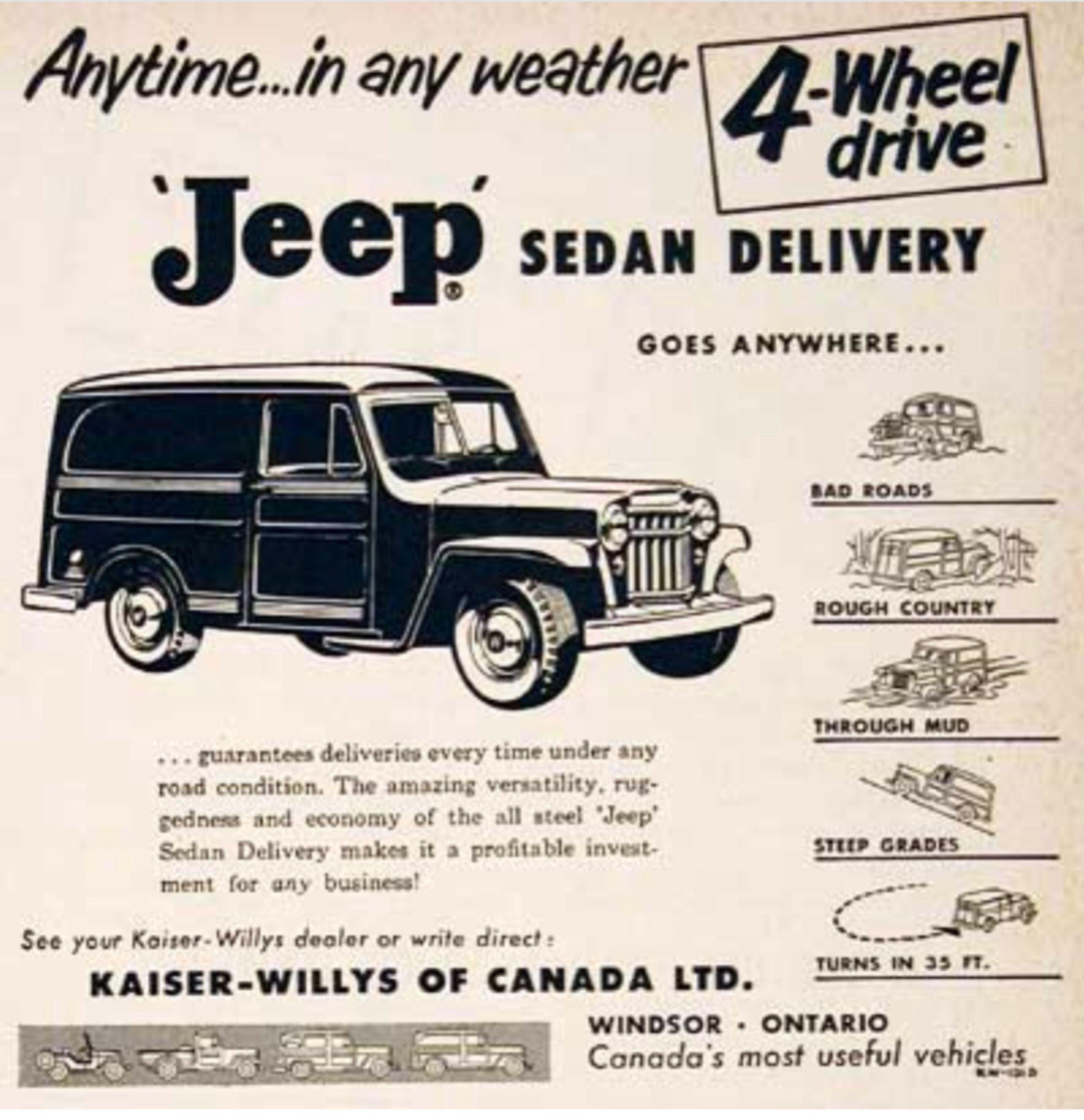 1955 Jeep Sedan Canada Willys Wagon Willys Custom Jeep Wrangler