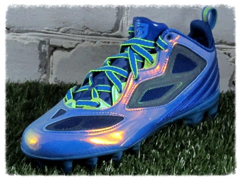 Adidas rgiii mid molded football cleats size 8 blue