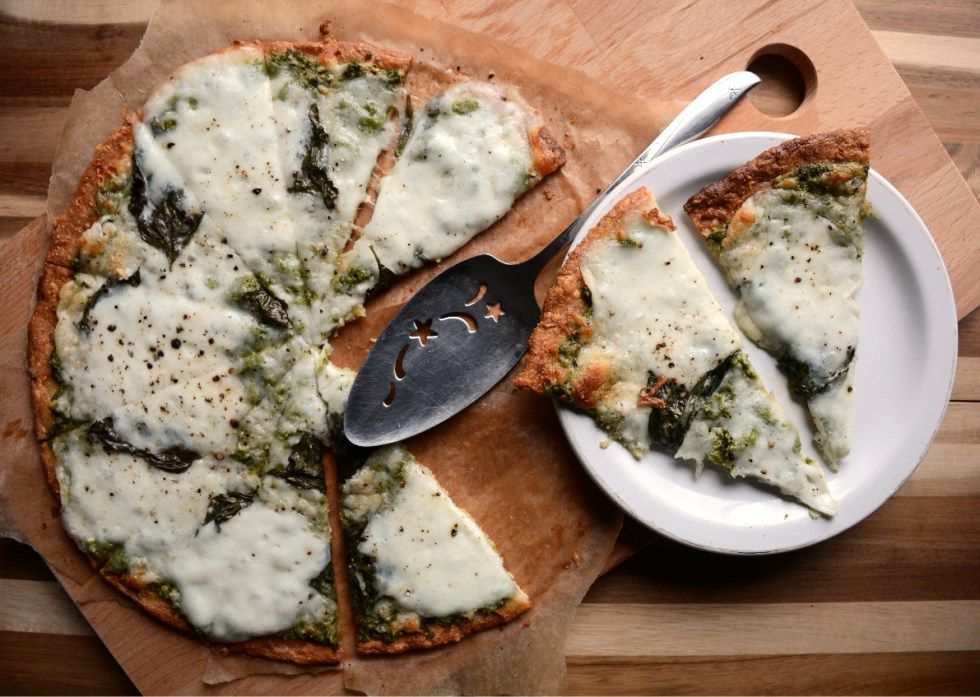 the *BEST Low Carb Pizza Crust* with Bufallo Mozzarella - primal - paleo - gluten free