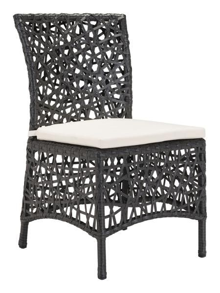 Santa Cruz Outdoor Dining Chair In Terra Brown Synthetic Weave With  Sunproof Fabric