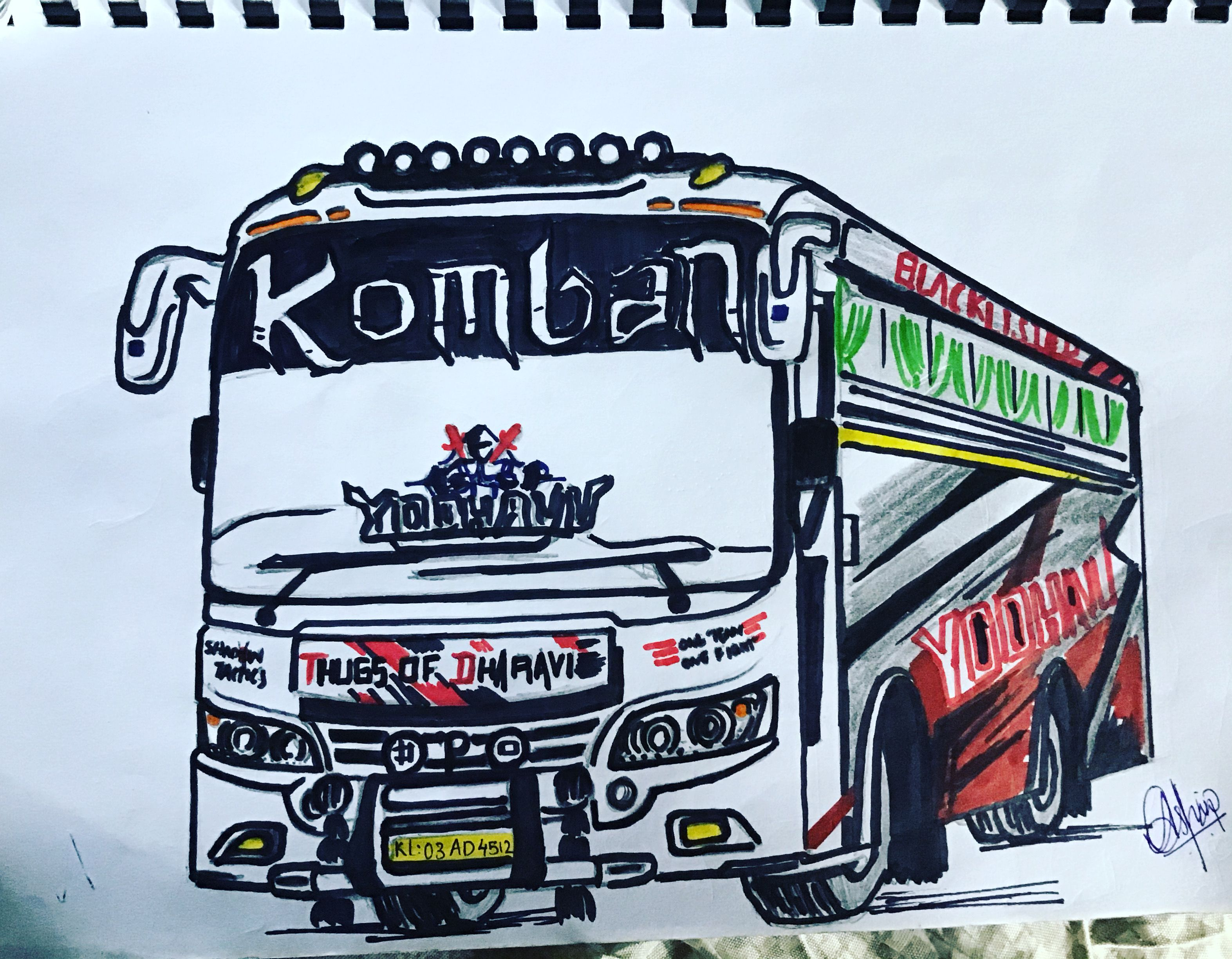 My Drawing Of Komban Yodhavu Vehicles My Drawings Pokemon
