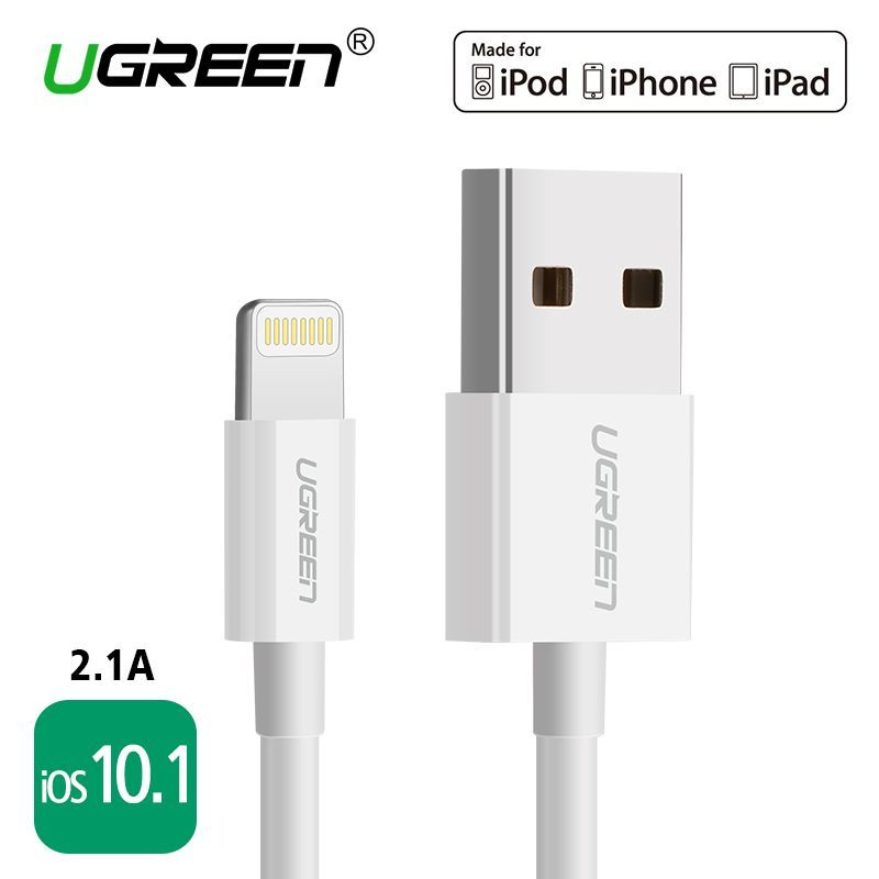 Ugreen Usb Cable For Iphone 8 2 4a Mfi Lightning To Usb Cable Fast Charging Data Cable For Iphone 7 6 5s Ipad Mobile Ph In 2020 With Images Iphone Cable Iphone Iphone Charger Cord