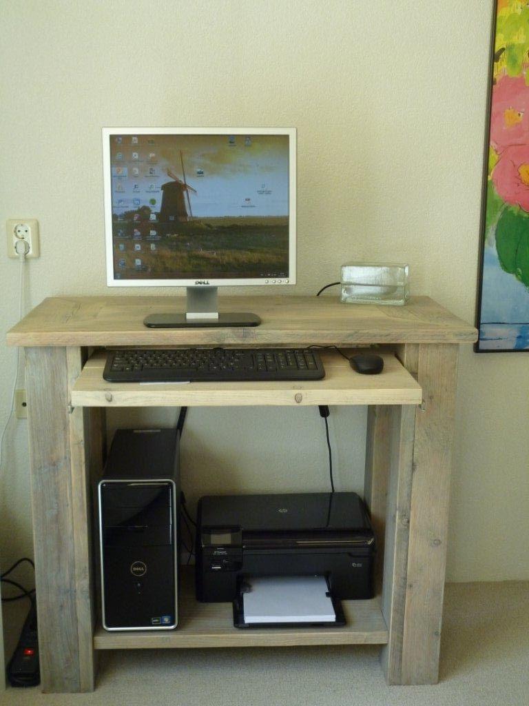 Computerkast Van Steigerhout.Lubbersen Steigerhout Computermeubelen Kleine Werkplek In 2019
