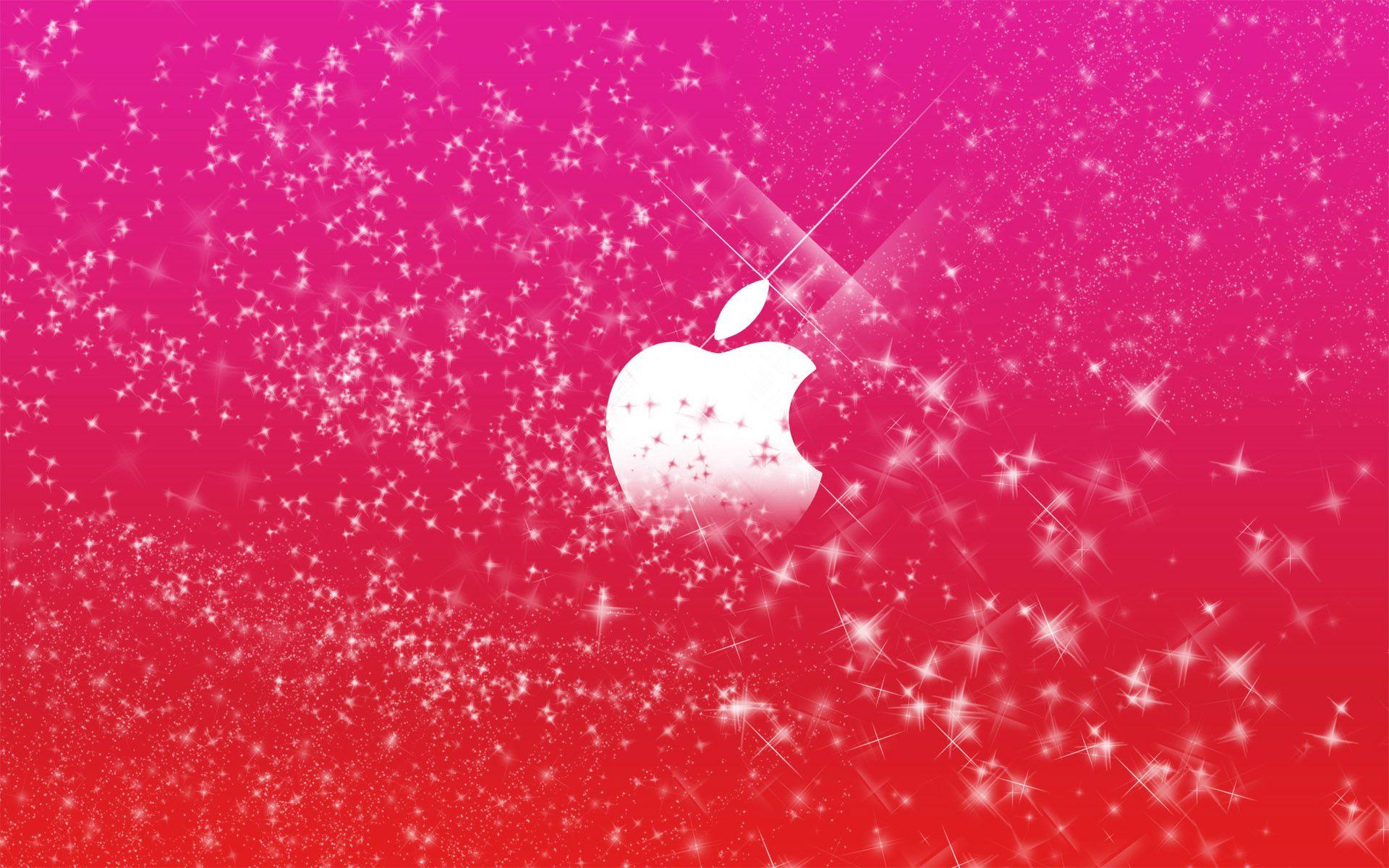 Apple Logo In Pink Glitters Wallpapers Hd Wallpapers Pink Sparkle Wallpaper Pink Glitter Wallpaper Sparkle Wallpaper
