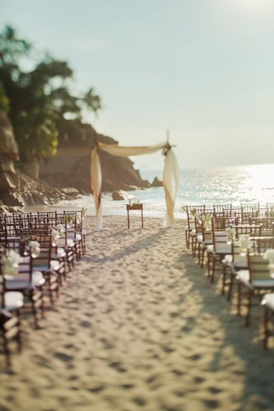 Beach Wedding Setup Pinned By Dauphine Magazine X Castlefield Curated Bridal