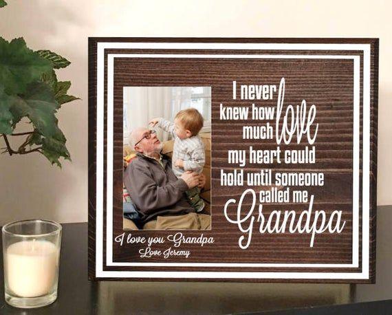 Grandpa picture frame, grandson gift, gift for grandson, I love grandpa picture frame, grandpa and me picture frame, grandparent photo frame #grandparentphoto