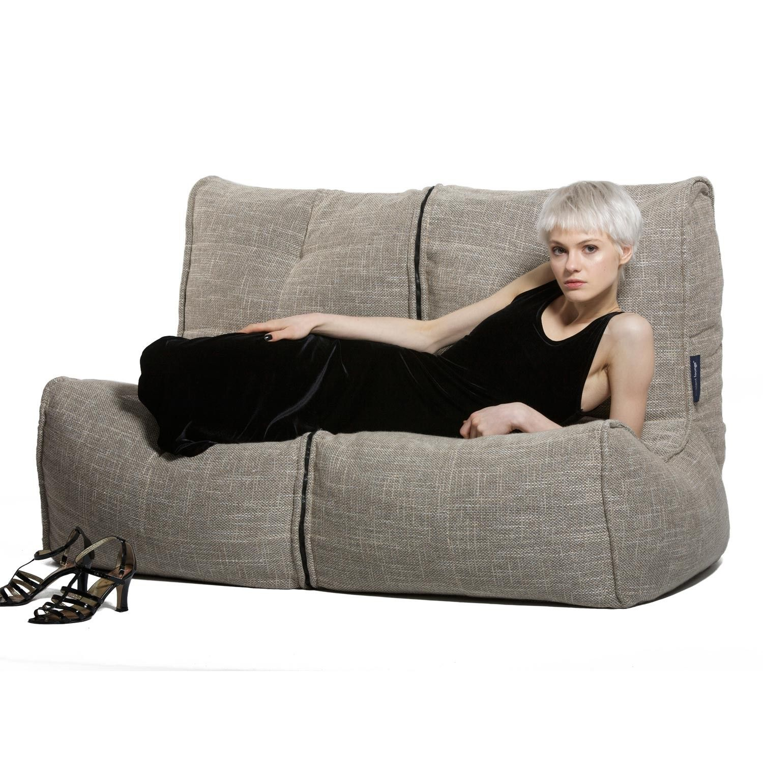 Ambient Lounge Twin Couch EcoWeave Bean bag couch, Bean