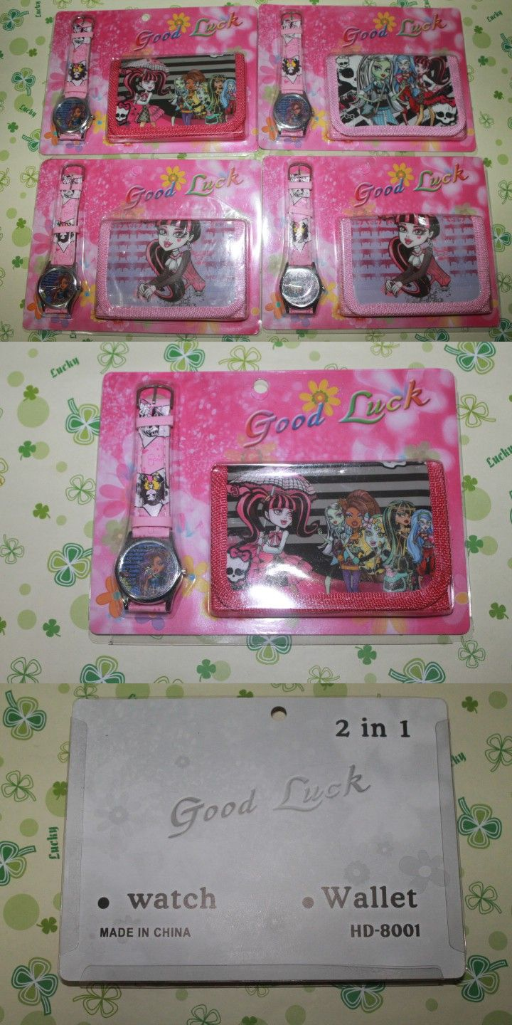 100sets/lot DHL Free shipping wholesale hot sales child kids girls metal watch and wallet sets cartoon Monster high alloy watch $180