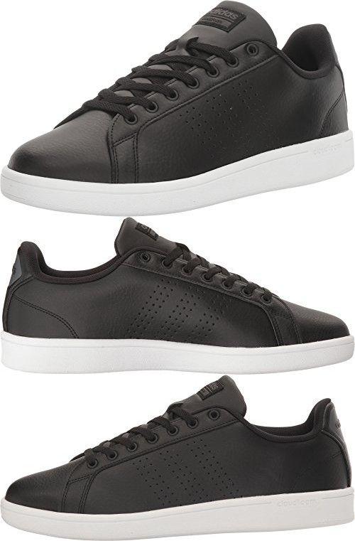 adidas neo uomini cloudfoam vantaggio pulito scarpa, black / nero / buio