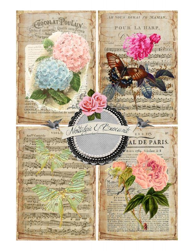 Sheet shabby bloemen | ~Shabby chic | Nostalgie & Brocante