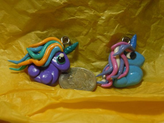 Kawaii Unicorn Charms Polymer Clay Fariy Kei by laminartz on Etsy, $4.00
