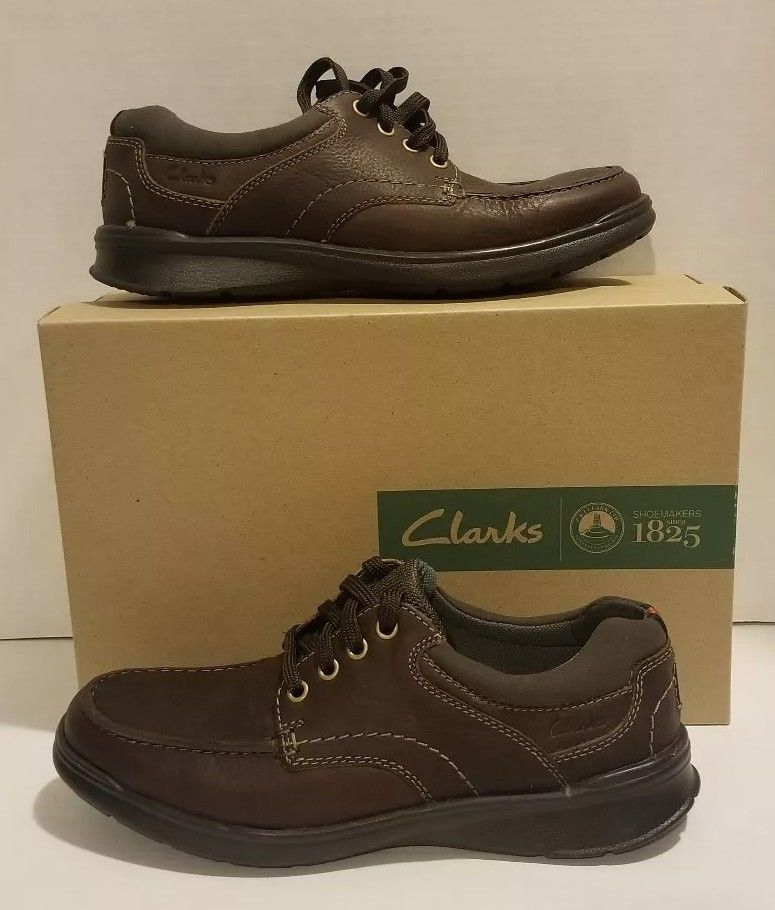 48acc35fc91 Clarks Cotrell Edge Up Shoe Leather Mens Lace Up Casuals Shoes size 8   fashion