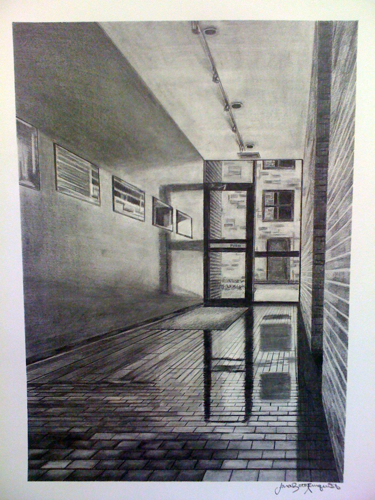 One point perspective dream bedroom - One Point Perspective Graphite