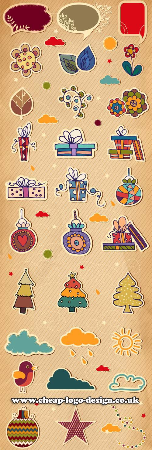 gift tag vector graphic ideas www.cheap-logo-design.co.uk #gifttags #logodesign #gifttagdesigns