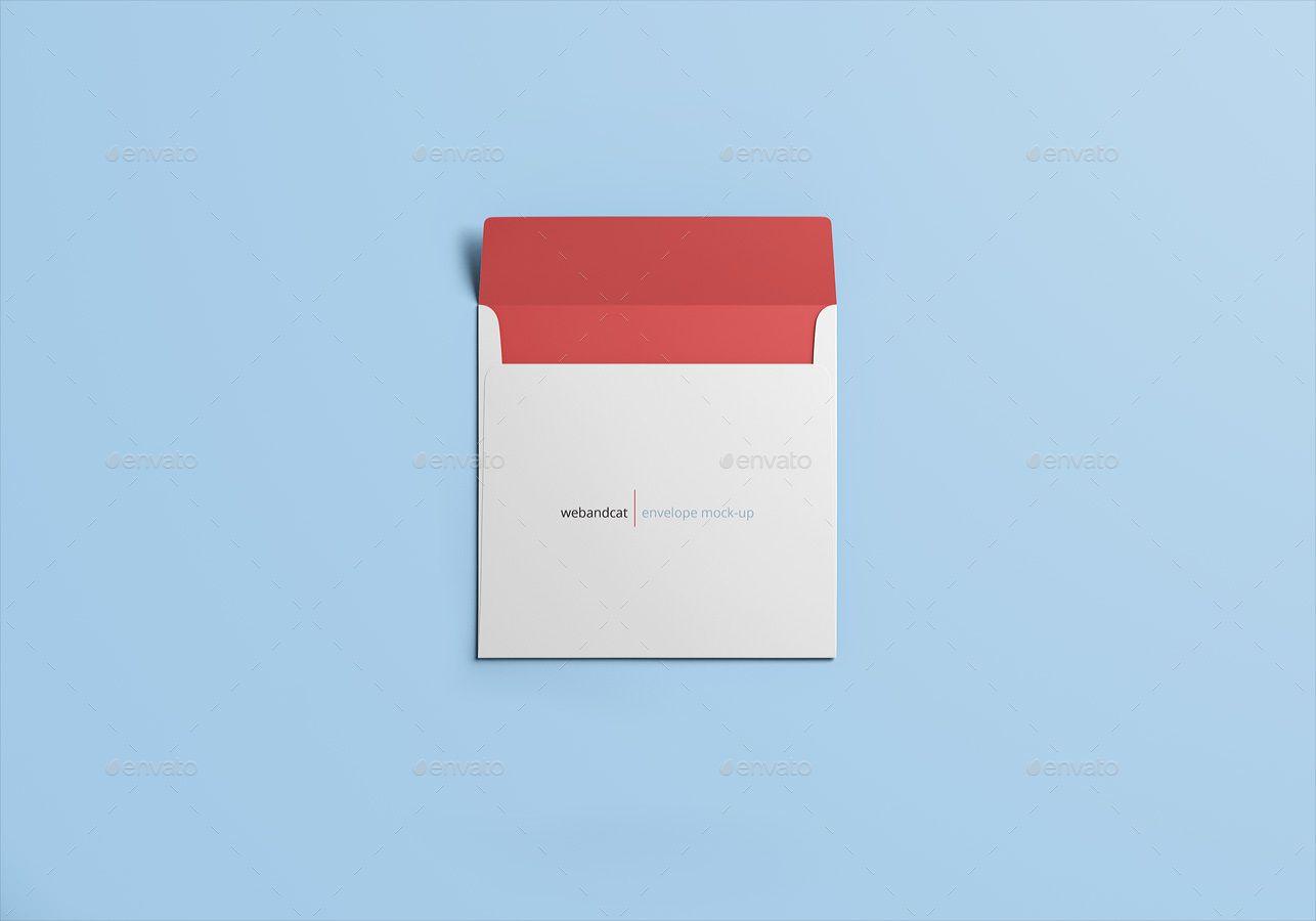 Square Envelope Mock Up Square Envelopes Envelope Design Envelope