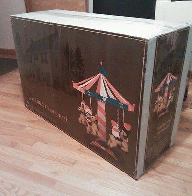 Trim A Home Outdoor Christmas Animated Carousel Ebay Outdoor Christmas Home Inflatables