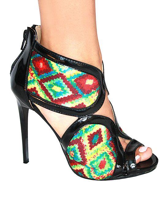 Black Geometric Xiomara Sandal