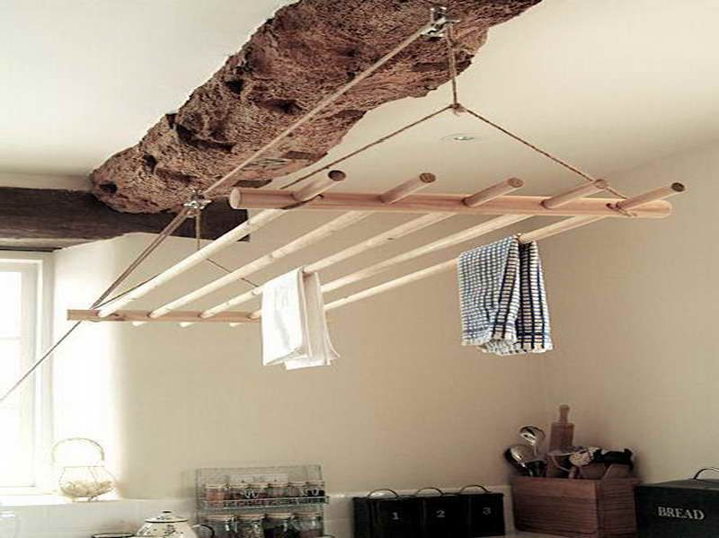 How To Make Indoor Clothesline With Bamboo Material Small