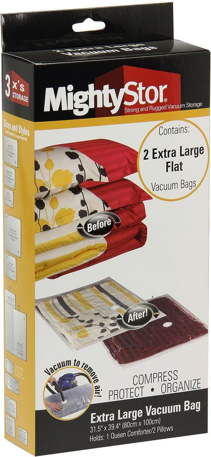 Household Essentials 3 Pc Mightystor Extra Large Vacuum Storage Bags