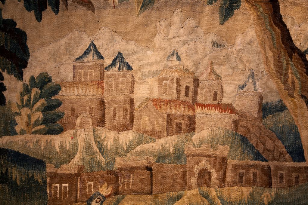 Late 17th Century Verdure Tapestry From Felletin