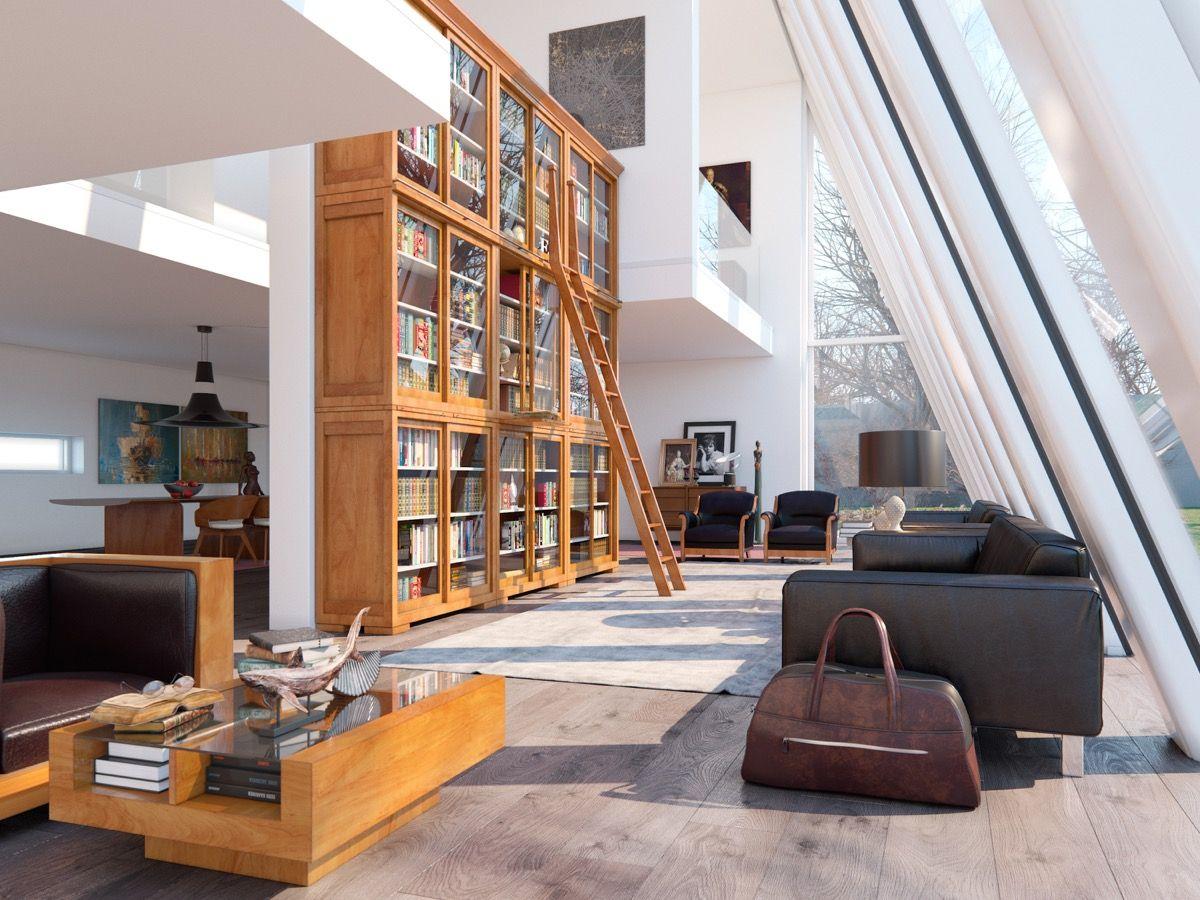 30 doppelte Höhen-Wohnzimmer, die eine Luft des Luxus hinzufügen ...