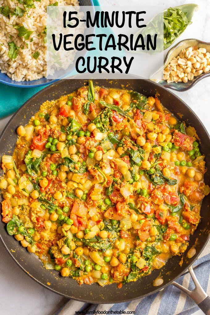 Quick and easy vegetarian curry images