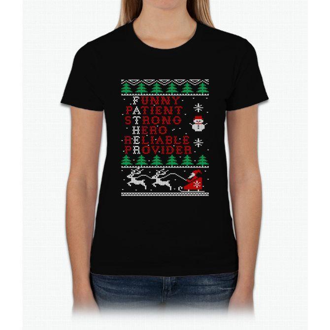 Father Merry Christmas T Shirt Womens T-Shirt