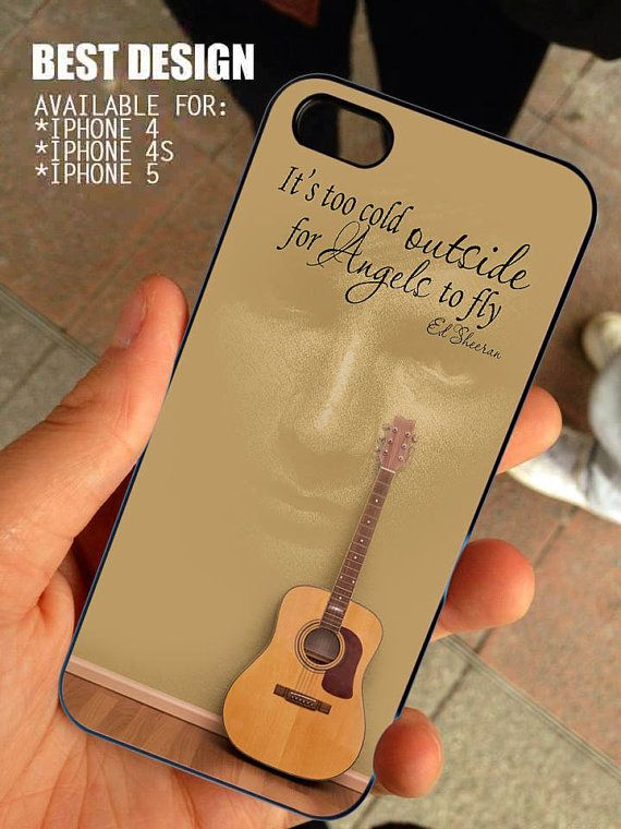 Ed Sheeran Quote And Acoustic Guitar For IPhone 4 4s Or 5 Case Cover