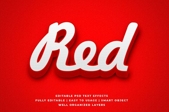 Red Bold Detailed 3d Text Effect Mockup #Sponsored , #Ad, #Detailed, #Bold, #Red, #Mockup