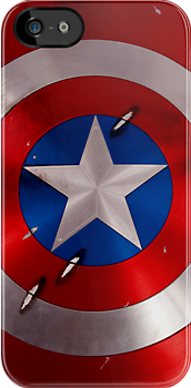 Made in USA, Great Case, Sharp image & Fast Shipping.  Captain America Shield - Star and Circle Pattern iPhone 5, iphone 4 4s, iPhone 3Gs, iPod Touch 4g case, Available for T-Shirt man and woman