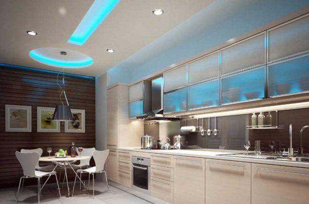 Kitchen Led Lighting Ideas Ceiling Lights Beautiful Shades Of Blue Kitchen Lighting Design Kitchen Led Lighting Ceiling Design