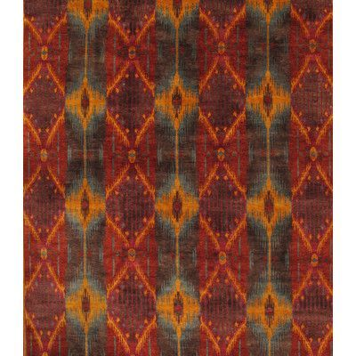 Pasargad Ikat Hand-Knotted Rust/Orange Area Rug Rug Size: 9' x 12'