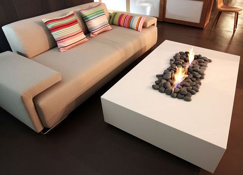 Fireplace made with Caesarstone's Snow (Blizzard). Classico 2141 ...