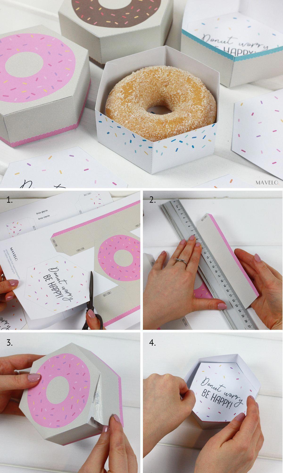 Pude Ko Donut Do Druku Freebies Donut Worry Be Happy