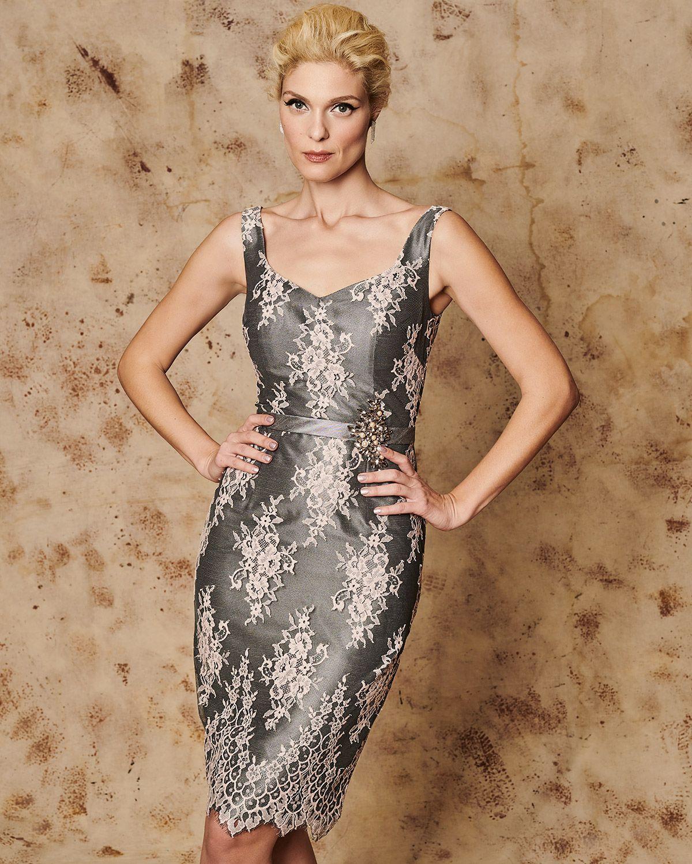 a0e914f5252a Κλασικά Φορέματα / Κλασικό φόρεμα κοντό δαντελένιο με ζακετάκι ...